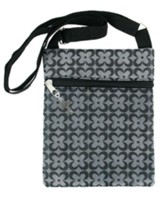 Crossbody Purse, with Cross Charm, Gray
