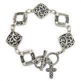 Filigree Bracelet with Cross
