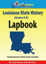 Louisiana State History Lapbook (Printed)