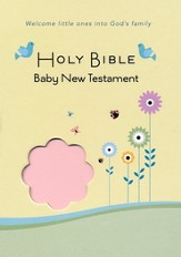 CEB Common English Bible New Testament Baby Edition SoftTouch Pink - Imperfectly Imprinted Bibles