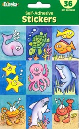 Scripture Press 2s & 3s Marine Life Stickers, Summer 2014