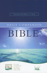 CEB Common English Daily Companion Bible - Navy EcoLeather