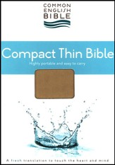 CEB Common English Bible, Compact Thin Edition - Espresso Henley DecoTone