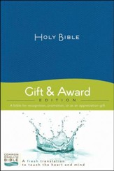 CEB Deluxe Gift and Award Bible Softcover Blue, Red Letter