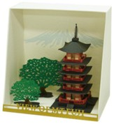 Paper Nano Japanese Papercraft, Five Storied Pagota