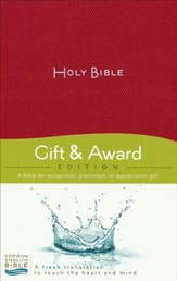CEB Gift and Award Bible Softcover Red, Red Letter