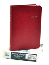 CEB Common English Bible Premium Large Print Decotone Crimson
