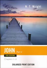 John for Everyone: Part 2 (Chapters 11-21) - Enlarged Print Edition