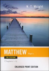 Matthew for Everyone: Part 1 (Chapters 1-15) - Enlarged Print Edition