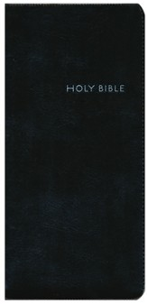 CEB Pocket Thin Bible w/zipper, Soft leather-look, Black