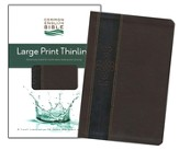 CEB Thinline Bible, Large Print edition, Soft leather-look, Walnut Key