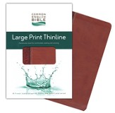 CEB Thinline Bible, Large Print edition, Soft leather-like, Cinnamon Bloom