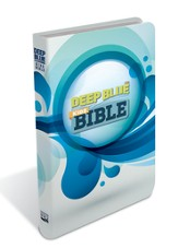 CEB Deep Blue Kids Bible, Soft leather-look, White Splash - Slightly Imperfect