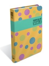 CEB Common English Bible Deep Blue Kids Bible, Polka Dot Yellow
