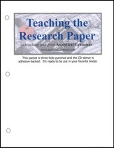 Teaching the Research Paper Packet & Audio CD