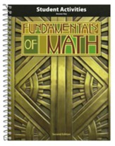 BJU Fundamentals of Math Grade 7 Student Activity Manual  Teacher's Edition, Second Edition