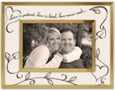 Love Is Patient, Anniversary Photo Frame