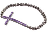 Amethyst Cross Bracelet, Horizontal