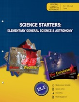 Science Starters: Elementary General Science & Astronomy Parent Lesson Planner - PDF Download [Download]