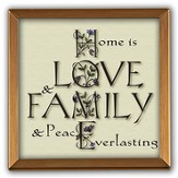 Home Is Love and Family Copper Plaque