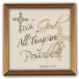 With God, All Things Are Possible Copper Plaque
