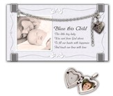 Bless This Child Photo Frame with Locket Bracelet
