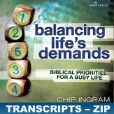 Balancing Life's Demands Transcripts - ZIP Files [Download]
