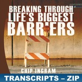 Breaking Through Life's Biggest Barriers Transcripts - ZIP  Files [Download]
