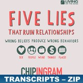 Five Lies That Ruin Relationships Transcripts - ZIP Files [Download]