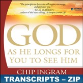 God As He Longs For You To See Him Transcripts - ZIP Files [Download]