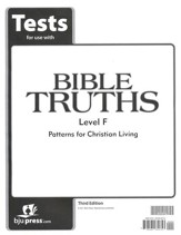 BJU Press Bible Truths Level F (Grade 12) Tests, 3rd Edition