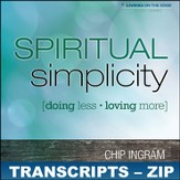Spiritual Simplicity Transcripts - ZIP Files [Download]
