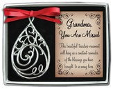 Grandma, Filigree Tear Ornament