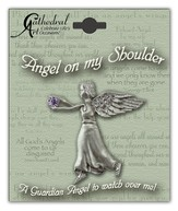 June Birthstone Angel Lapel Pin
