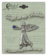 September Birthstone Angel Lapel Pin