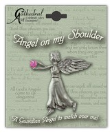 October Birthstone Angel Lapel Pin