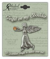 November Birthstone Angel Lapel Pin