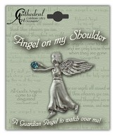 December Birthstone Angel Lapel Pin