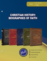 Christian History: Biographies of Faith Parent Lesson Planner - PDF Download [Download]