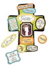 God's Love has been Poured Confirmation Cross with Magnet Set