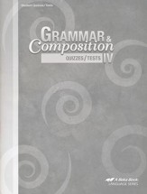 Grammar & Composition IV Quizzes/Tests