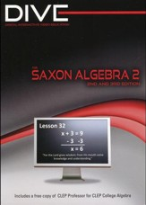 Saxon Math Algebra 2 2nd & 3rd Edition DIVE CD-Rom