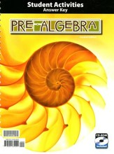 BJU Pre-Algebra Grade 8 Activity Manual Answer Key Second Edition