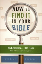 How to Find It in Your Bible: Key References for 1,001 Topics Both Biblical and Contemporary