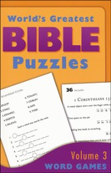 World's Greatest Bible Puzzles-Volume 3 (Word Games)