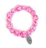 Fight Like a Girl Bracelet, Pink