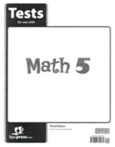 BJU Math Grade 5 Test Pack, Third Edition