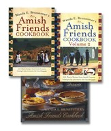 Wanda E. Brunstetter's Amish Friends Cookbook 3 Pack