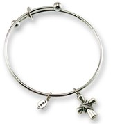 Wrapped in Faith Adjustable Bangle Bracelet, Silver
