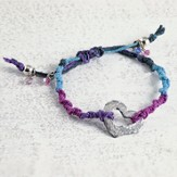 Love, Heart Adjustable Cord Bracelet, Multi-Color